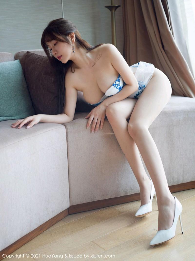 [HuaYang花漾写真] 2021.02.07 VOL.365 王雨纯 青花瓷服饰与朦胧魅惑丝袜 [82+1P] -第5张